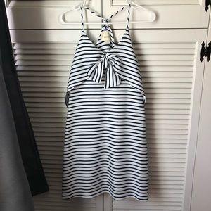 MAEVE Anthropologie Sailor Stripe Tie Dress